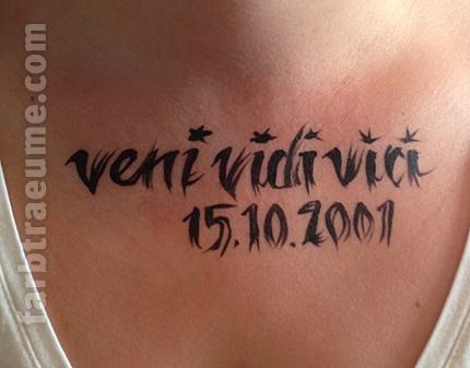 Gemalte Tattoos