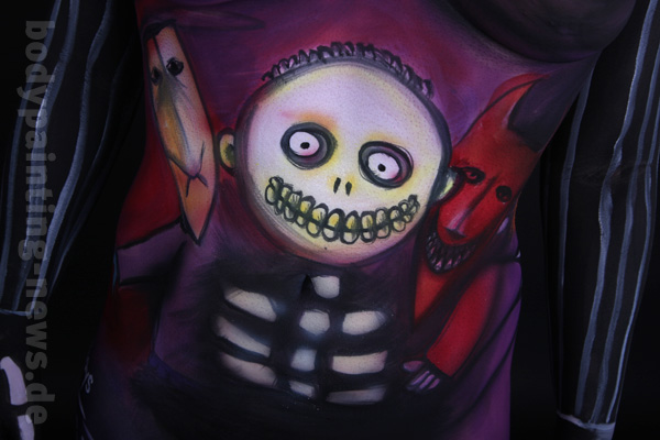 Bodypainting mit Fotoshooting Nightmare before Christmas