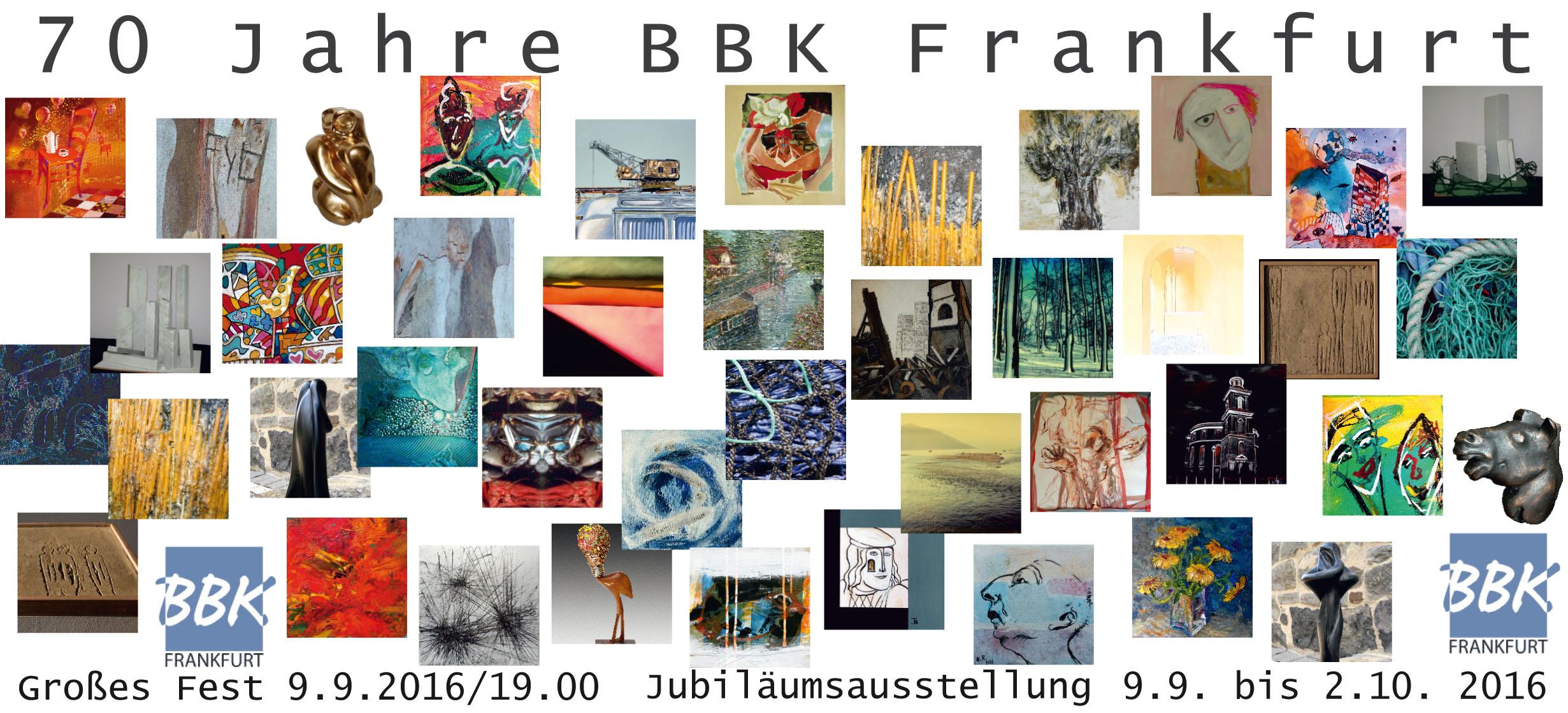 Facepainting-Kunst zum 70. Geburtstag des BBK Frankfurt